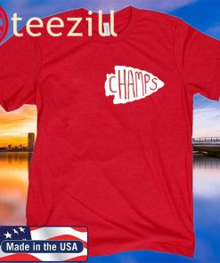 Logo Kansas City Chiefs Arrowhead Champs T Shirt
