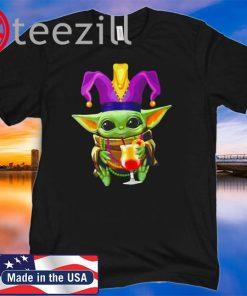 Mardi Gras Baby Yoda 2020 Tee Shirt