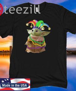 Mardi Gras Baby Yoda Tshirt
