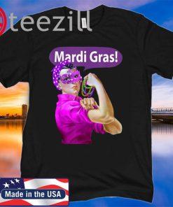Mardi Gras Rosie the Riveter Mashup TShirt