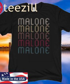 Retro Vintage Style Name Gift Poster Malone T-Shirt