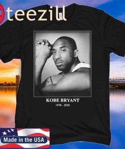 Rip Kobe Bryant 1978-2020 number 24 signature Tshirt