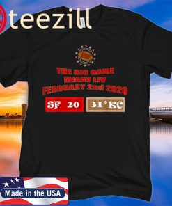 The Big Game Miami Live February 2nd 2020 Football Bowl Game T-Shirt