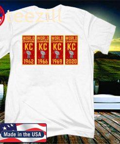 Kansas City Football KC Faithful 2020 Title Banner Champions Logo T-Shirt