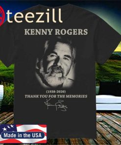 Kenny Rogers 1938 2020 Thank You For The Memories Signature Classic T-Shirt