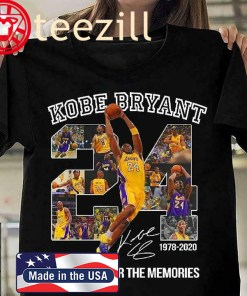 Kobe Bryant Thank You For The Memories Number 24 Men'S T-Shirt Los Angeles Lakers Legend