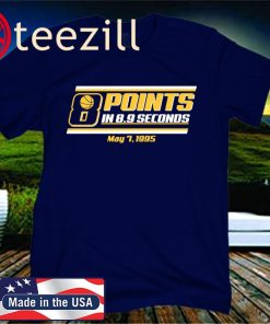 8 Points in 8.9 Seconds T-Shirt - Indianapolis Basketball