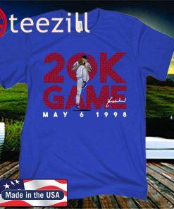 Kerry Wood Shirt, 20 K Game, Chicago - MLBPAA Licensed