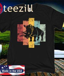 Rhino Shape Vintage 2020 T-Shirt