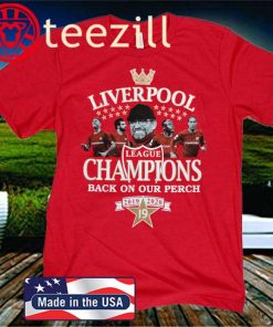 Liverpool Champions Of England Back On Our Perch 2020 T-Shirt