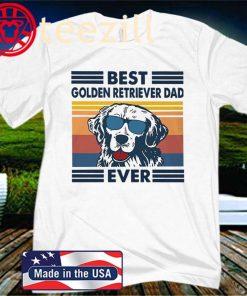 Vintage Best Golden Retriever Dad Ever Classic T-Shirts