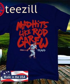 Mad Hits Like Rod Carew 77 MVP Official T-Shirt