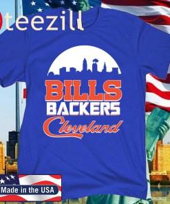 BILLS BACKERS CLEVELAND OFFICIAL T-SHIRT