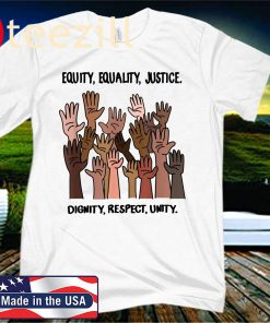Equity, Equality, Justice, Dignity, Respect, Unity Shirt