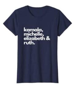 Feminist Political Icon, Kamala, Michelle, RBG, Elizabeth Unisex Shirt