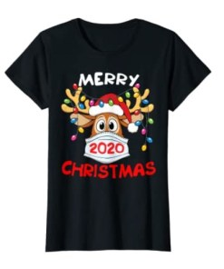 Reindeer In Mask Funny Merry Christmas 2020 Shirt