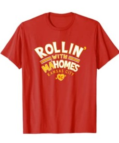 Kansas City Red Rollin' With Ma'homes KC Retro Styled Kc Fans Shirt