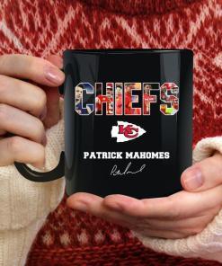 Patrick Mahomes Chiefs Coffee Mug, Kansas City Chiefs, Kc chiefs Cup, Youth Baseball Gift, Black Cup