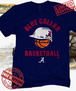 Blue Collar Alabama Basketball Tee Shirt