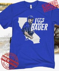 Let's Go Bauer Blue Shirt L.A. - MLBPA Licensed