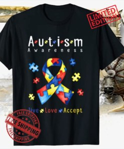Live, love, accept, autism awareness month Shirts