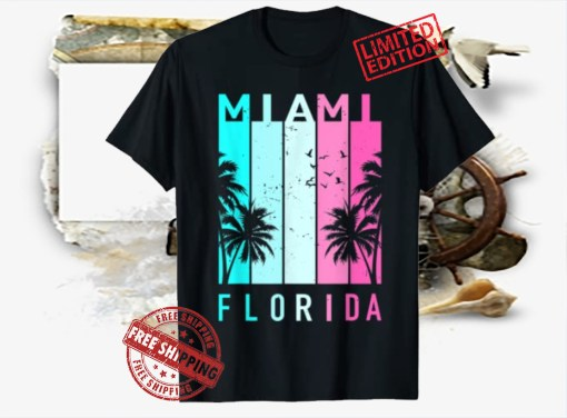 Retro Miami Florida Beach Souvenir Men Women Kids Shirt
