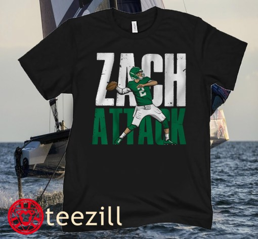 Zach Wilson- Zach Attack Football T-Shirt