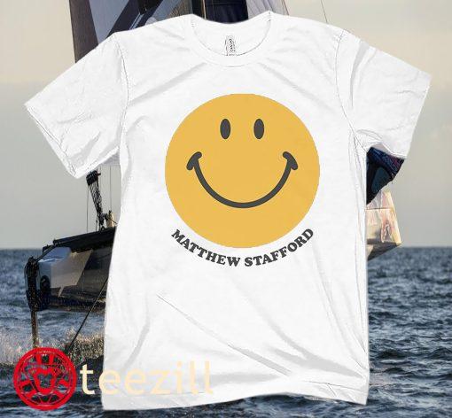 Matthew Stafford Smiles Football T-Shirt