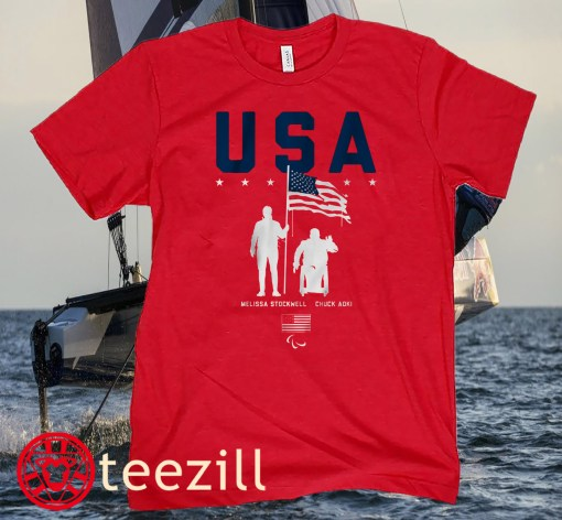 TEAM USA, MELISSA STOCKWELL AND CHUCK AOKI FLAG BEARERS T-SHIRT