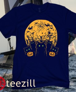 Black Cats Full Moon Halloween Animal Pet Men Women Kids Unisex Shirt