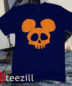 Disney Mickey Mouse Skull Halloween Classic T-Shirt