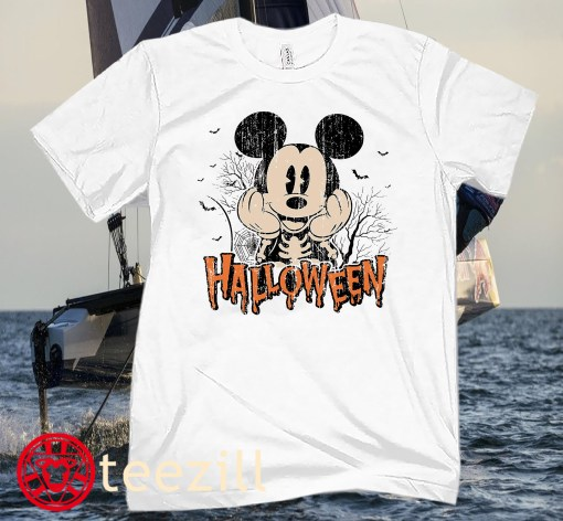 Halloween Disney Ride T-Shirt, Disney Halloween Retro Mickey Tee Shirts