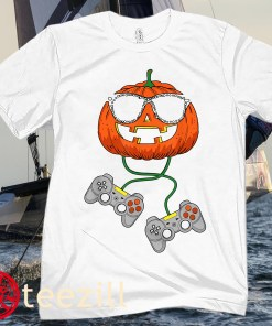 Halloween Jack O Lantern Gamer Boys Kids Men Funny Halloween Classic T-Shirt