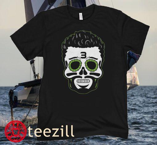 Russell Wilson Sugar Skull Halloween Shirt Seattle Seahawks