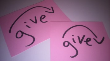 Give cards - about 4