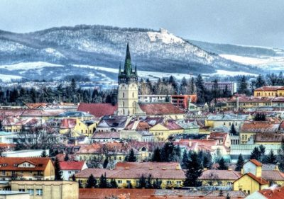 Winter view of the city of Presov in Slovakia