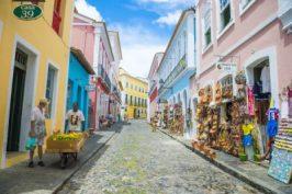 Main street in Salvador Brazil