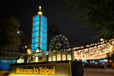 Welcome to Taipei sign