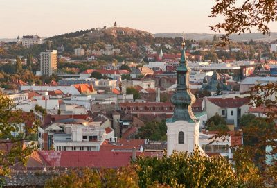 View of the city of Nitra in Slovakia