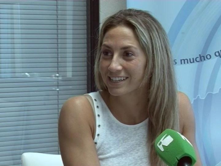 26/05 La jugadora, Ana Ferrer, ha vist complit un dels seus somnis amb el Puchi