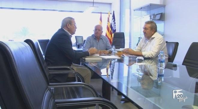 05/10 Reunió del president del Consell d'Eivissa amb l'alcalde de Sant Antoni