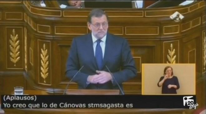 27/10 Rajoy fracassa en la primera votació