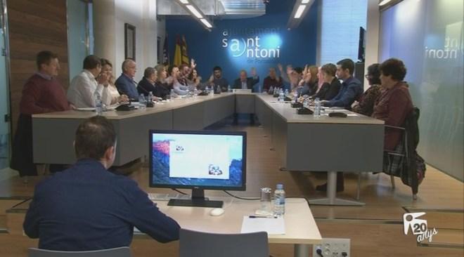21/12 Sant Antoni redueix l'IBI  per compensar la nova taxa d'escombreries aprovada avui al ple