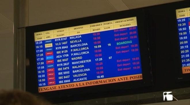 12/04 Cancel·lacions i grans retards a l'aeroport d'Eivissa