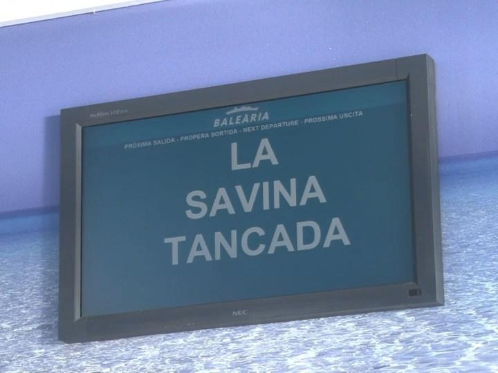11/01 Vents de 60 km/h obliguen a tancar el port de la Savina