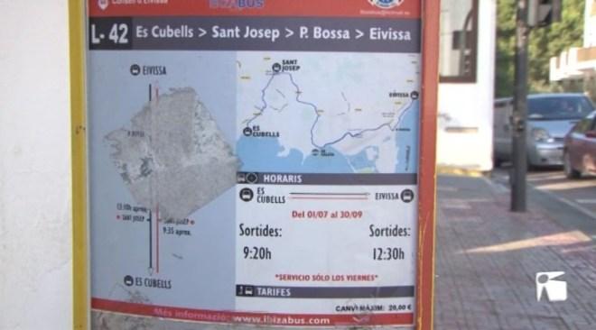 14/11 Es presenta la nova línia d'autobús que connectarà Sant Josep i Es Cubells