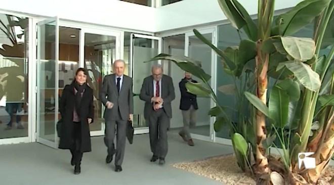 26/02 Antoni Terrassa visita els jutjats d'Eivissa per primera vegada des de l'incendi