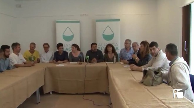 21/05/2019 Unanimitat al voltant del pacte per l'aigua