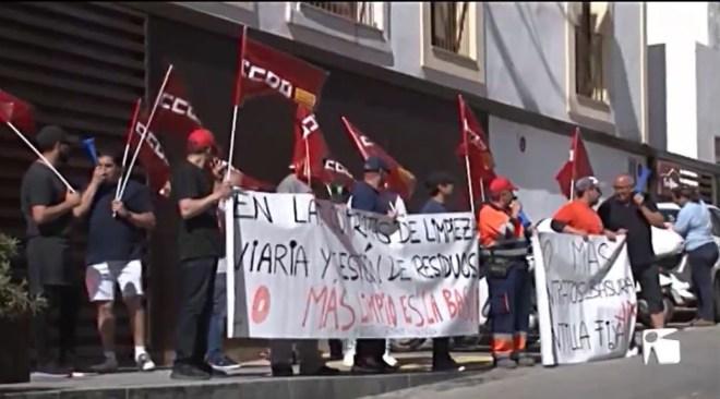 27/06/2019 Els treballadors de la neteja de Vila i Sant Antoni a prop de la vaga