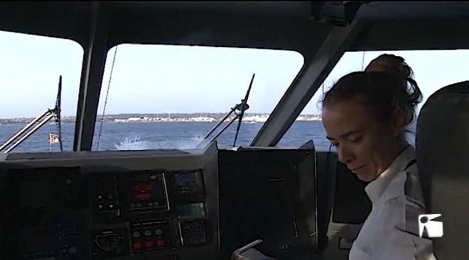 08/07/2019 Anna Escandell és la patrona del vaixell 'Aires de Formentera'